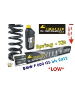 Height lowering kit, 50 mm, BMW F800GS up to 2012 replacement springs*replacement springs*