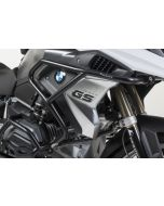 Stainless steel crash bar extension, black for BMW R1200GS (LC) from 2017