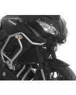 Radiator guard for Kawasaki Versys 650 from 2015, aluminum, black