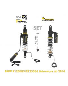 Touratech Suspension-SET Plug & Travel -40 mm lowering for BMW R1200GS Adventure (LC) / R1250GS Adventure from 2014