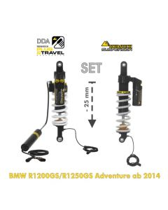 Touratech Suspension-SET Plug & Travel -25 mm lowering for BMW R1200GS Adventure (LC) / R1250GS Adventure  from 2014