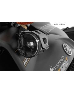 Set of LED auxiliary headlights, fog/fog, black, for Yamaha XT1200Z Super Tenere