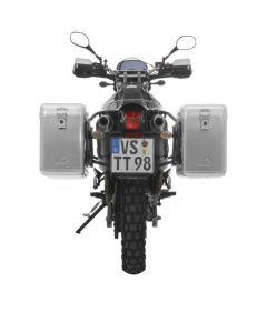 ZEGA Mundo aluminium pannier system 38/38 litres with steel rack black for Yamaha XT660R