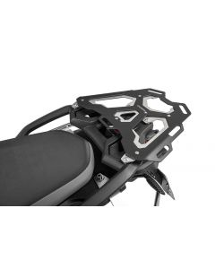 Aluminium luggage rack, black for BMW F850GS / F750GS