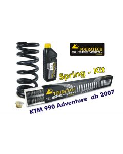 Progressive replacement springs for fork and shock absorber, KTM 990 Adventure from 2007