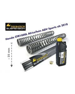 Progressive fork springs for Honda CRF1000L Africa Twin Adventure Sports from 2018 -25mm lowering