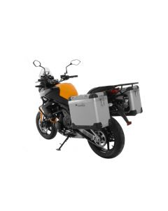 "ZEGA Pro aluminium pannier system ""And-S"" 38/38 liter with steel rack black for Kawasaki Versys 650 (2010-2014)"