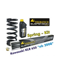 Progressive replacement springs for fork and shock absorber for Kawasaki KLR650 from 2008