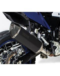 REMUS Black Hawk muffler slip on, stainless steel black, all street legal for Yamaha Tenere 700
